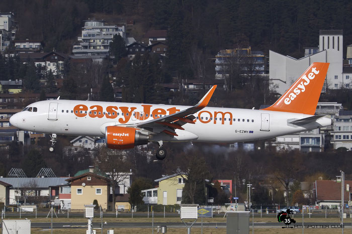 G-EZWH A320-214 5542 EasyJet Airline @ Innsbruck Airport 09.01.2016 © Piti Spotter Club Verona