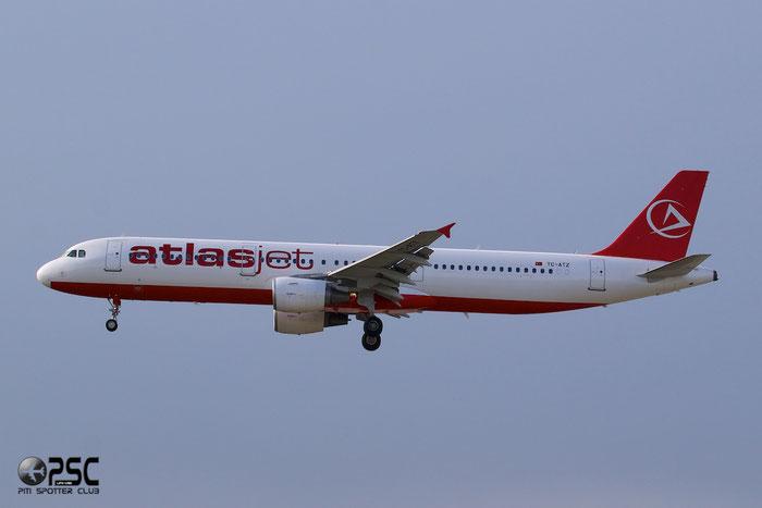 TC-ATZ A321-211 823 AtlasGlobal @ Frankfurt Airport 25.07.2014 © Piti Spotter Club Verona