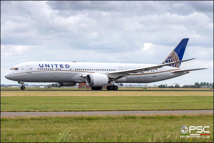 N26967  B787-9  60144/445  United Airlines  @ Amsterdam 2019 © Piti Spotter Club Verona