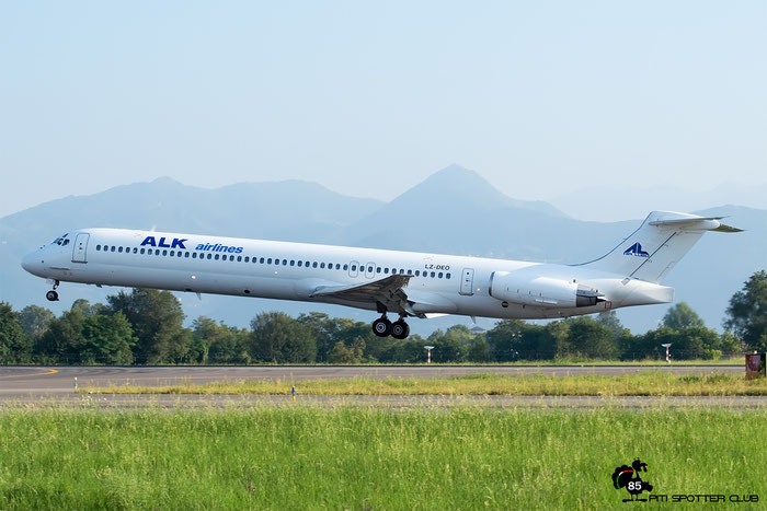 LZ-DEO MD-82 49552/1597 Air Lubo - ALK Airlines @ Bergamo Airport 27.08.2016 © Piti Spotter Club Verona