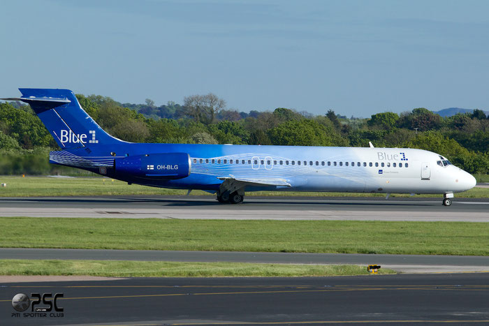OH-BLG B717-2CM 55059/5023 Blue1 @ Manchester Airport 13.05.2014 © Piti Spotter Club Verona