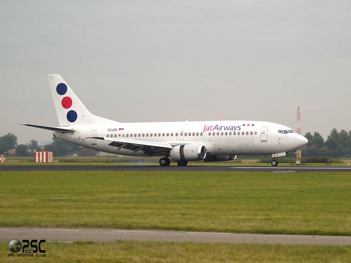 YU-ANI B737-3H9 23416/1175 Jat Airways @ Amsterdam Airport 20.09.2013 © Piti Spotter Club Verona