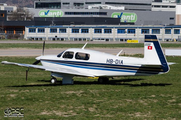HB-DIA Mooney M-20R M20P @ Aeroporto di Bolzano © Piti Spotter Club Verona