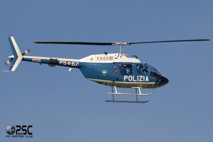 PS-67 Polizia di Stato Agusta-Bell AB-206B JetRanger III @ Aeroporto di Verona © Piti Spotter Club Verona