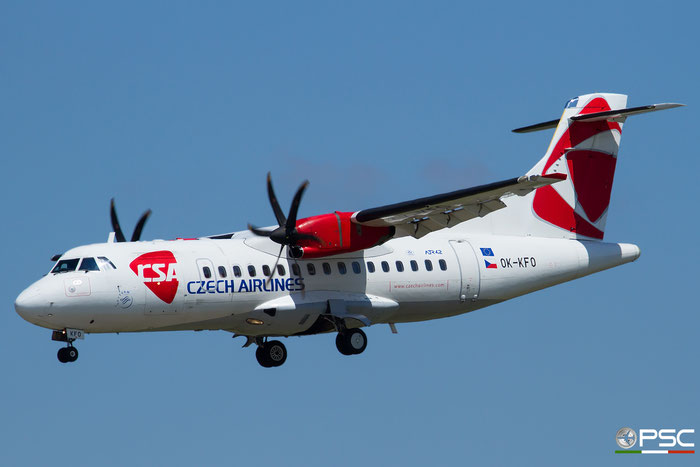 OK-KFO ATR42-500 633 CSA Czech Airlines @ Bologna Airport 26.05.2016 © Piti Spotter Club Verona