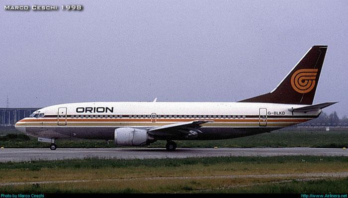 G-BLKD  B737-3T5  23062/1083  Orion Airways   @ Aeroporto di Verona © Piti Spotter Club Verona