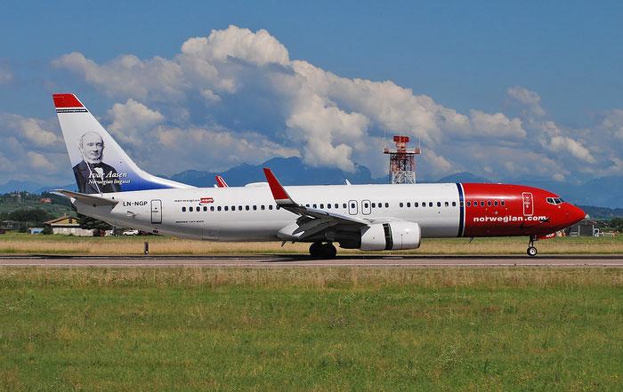 LN-NGP B737-8JP 39028/4701 Norwegian @ Aeroporto di Verona 25.06.2018  © Piti Spotter Club Verona