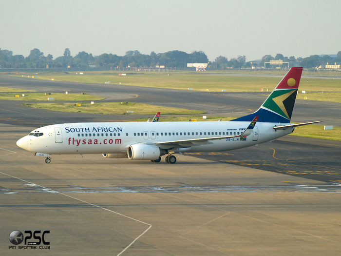 ZS-SJN B737-85F 30569/850 South African Airways @ Johannesburg Airport 22.03.2014 © Piti Spotter Club Verona