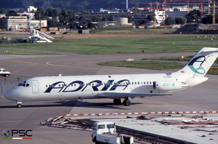 YU-AHW DC-9-33RC 47530/624 Adria Airways © 2018 courtesy of Marco Ceschi - Piti Spotter Club Verona