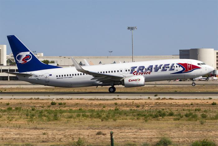 OK-TVT B737-86N 39394/3899 Travel Service @ Palma de Mallorca Airport 07.2014 © Piti Spotter Club Verona