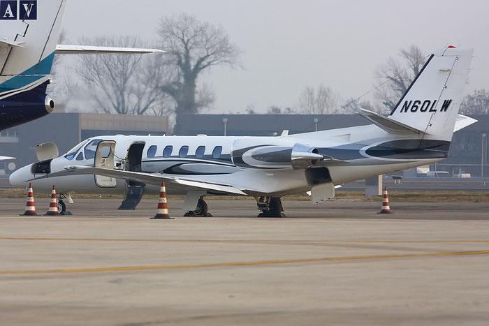 N60LW Ce550 Bravo 550-1129 Prestbury Two LLP @ Treviso Airport 22.01.2012 © Piti Spotter Club Verona