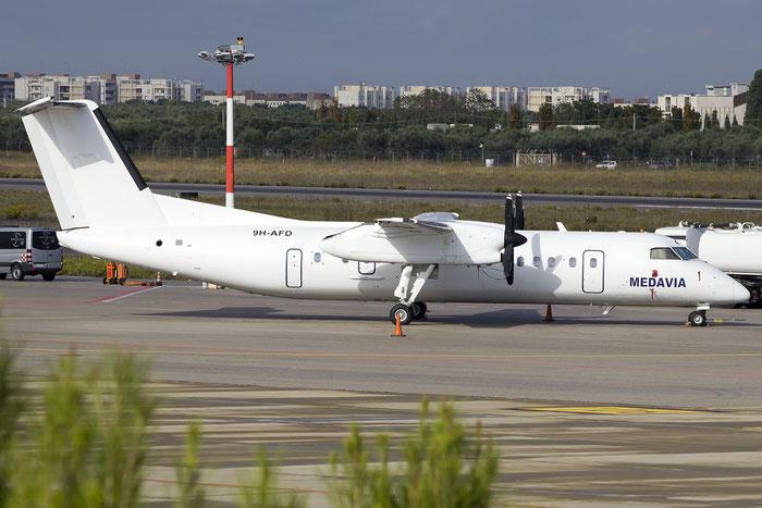 9H-AFD DHC-8-311Q 458 Medavia - Mediterranean Aviation Company @ Bari Airport 10.11.2016 © Piti Spotter Club Verona