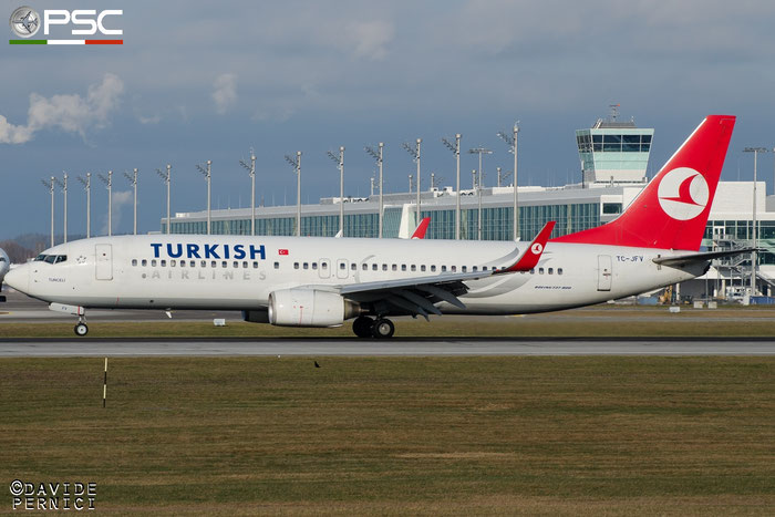 TC-JFV B737-8F2 29782/490 Turkish Airlines - THY Türk Hava Yollari @ Munich Airport 13.12.2015 © Piti Spotter Club Verona