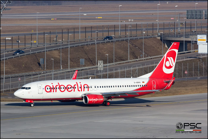 D-ABKN B737-86J 37756/3371 Air Berlin @ Munich Airport 14.02.2017 © Piti Spotter Club Verona
