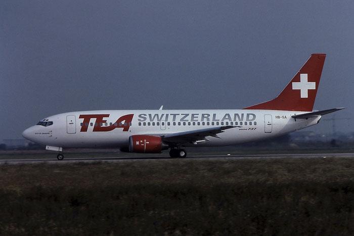 HB-IIA B737-3M8 24023/1675 TEA Switzerland - Trans European Airways @ Aeroporto di Verona - © Piti Spotter Club Verona