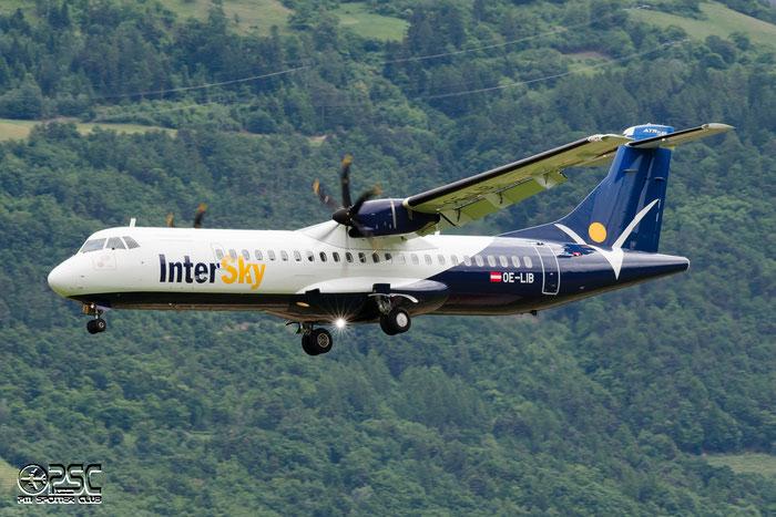 OE-LIB  ATR72-212A  1038  Intersky Luftfahrt  @ Aeroporto di Bolzano © Piti Spotter Club Verona