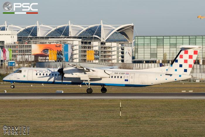 9A-CQD DHC-8-402 4260 Croatia Airlines @ Munich Airport 13.12.2015 © Piti Spotter Club Verona