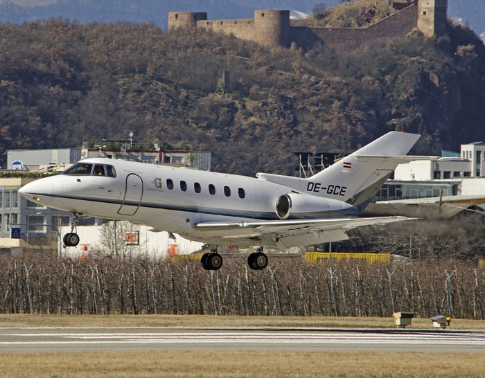 OE-GCE BAe125-800XP 258536 Goldeck-Flug @ Aeroporto di Bolzano © Piti Spotter Club Verona