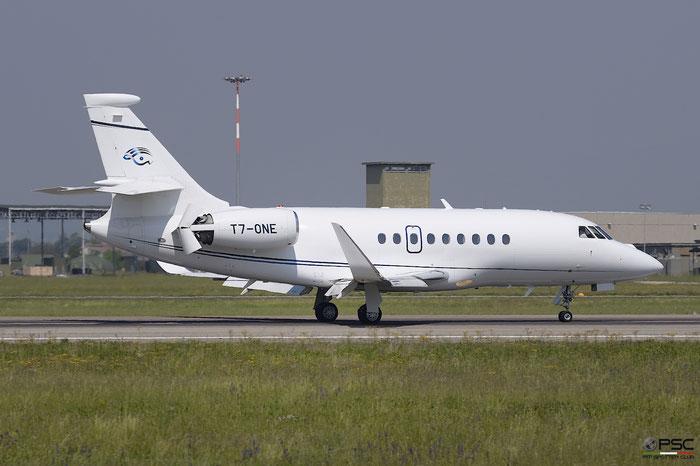 T7-ONE Falcon 2000LX 220 Corporate Jet (Lebanon) @ Aeroporto di Verona 22.04.2017  © Piti Spotter Club Verona