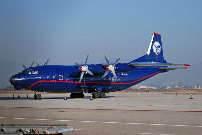 00347505 An-12BK UR-CNT Cargo Air Chart. @ Brescia Airport 01.2018 © Piti Spotter Club Verona