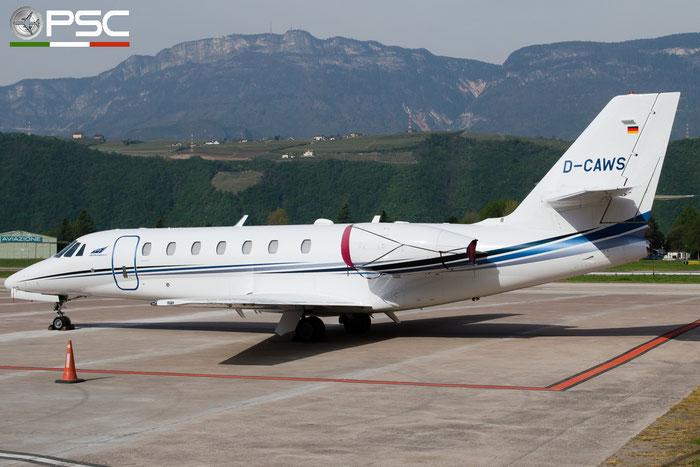 D-CAWS Ce680 680-0328 Aerowest @ Aeroporto di Bolzano © Piti Spotter Club Verona