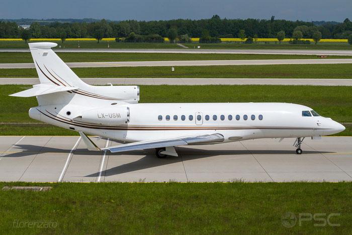 LX-USM Falcon 7X 167 Global Jet Luxembourg@ Munich Airport 15.05.2016 © Piti Spotter Club Verona
