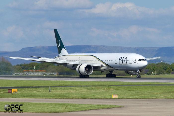 AP-BHW B777-340ER 33779/611 PIA - Pakistan International Airlines @ Manchester Airport 13.05.2014 © Piti Spotter Club Verona