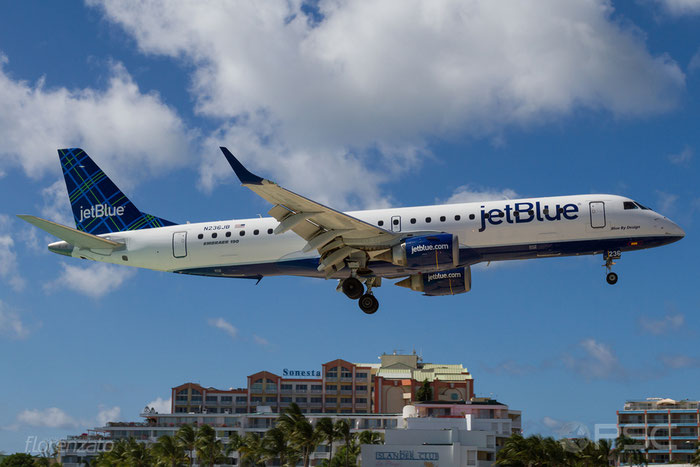 N236JB ERJ190AR 19000035 JetBlue Airways @ Sint Maarten  Airport 09.04.2016 © Piti Spotter Club Verona