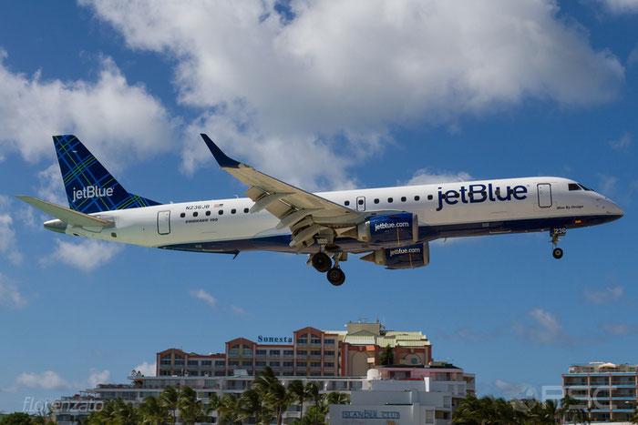 N236JB ERJ190AR 19000035 JetBlue Airways @ Sint Maarten  Airport 09.04.2016 © Piti Spotter Club Verona