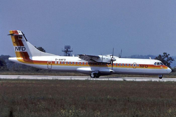 D-ANFD ATR72-202 256 NFD - Nürnberger Flugdienst @ Aeroporto di Verona © Piti Spotter Club Verona