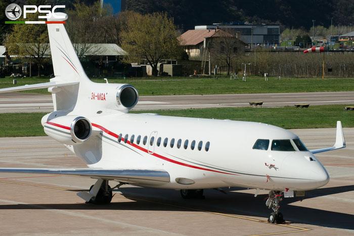 3A-MGA Falcon 7X 200 Government of Monaco @ Aeroporto di Bolzano © Piti Spotter Club Verona