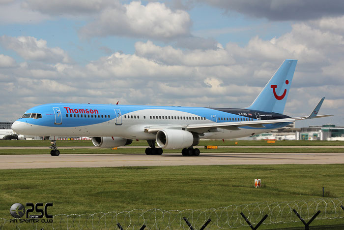 G-OOBB B757-28A 32447/951 Thomson Airways @ Manchester Airport 13.05.2014 © Piti Spotter Club Verona