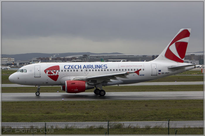 OK-PET A319-112 4258 CSA Czech Airlines @ Frankfurt Airport 22.10.2014 © Piti Spotter Club Verona