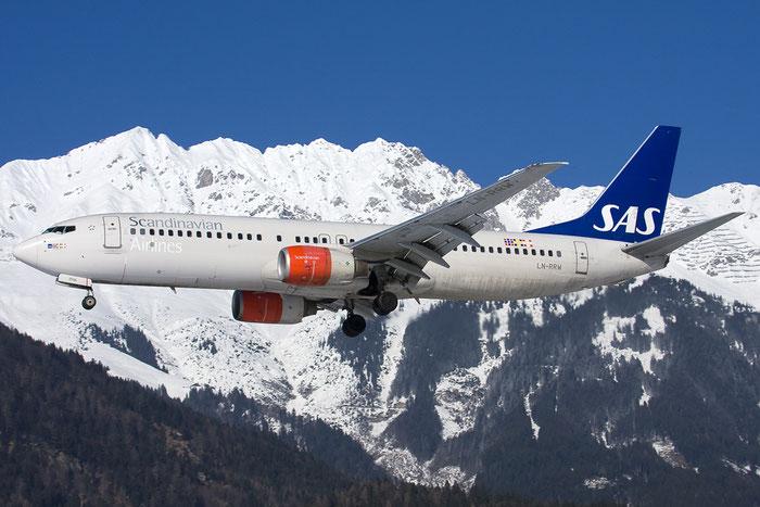 LN-RRW B737-883 32277/1554 SAS Scandinavian Airlines - Scandinavian Airlines System  @ Innsbruck Airport 26.01.2013 © Piti Spotter Club Verona
