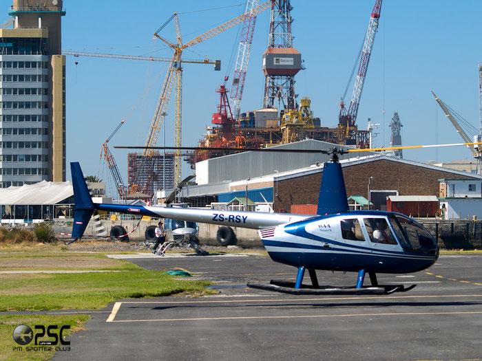 ZS-RSY Robinson Clipper @ Cape Town downtown Heliport Airport 19.03.2014 © Piti Spotter Club Verona