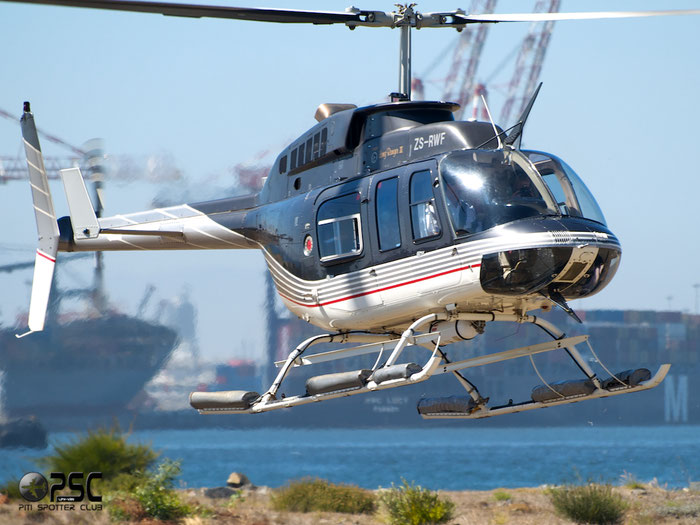 ZS-RWF Private Bell 206L-3 LongRanger III @ Cape Town downtown Heliport Airport 19.03.2014 © Piti Spotter Club Verona