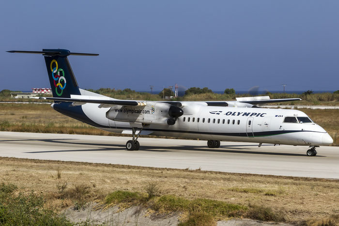 SX-OBC DHC-8-402 4276 Olympic Air @ Rhodes Airport 08.07.2015 © Piti Spotter Club Verona
