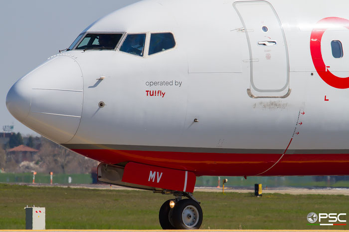 D-ABMV B737-86J 37785/4698 TUI fly Germany @ Bologna Airport 03.2018 © Piti Spotter Club Verona