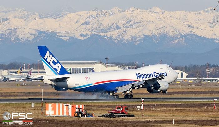 JA14KZ B747-8KZF 37394/1469 NCA - Nippon Cargo Airlines @ Milano Malpensa Airport 22.02.2016 © Piti Spotter Club Verona