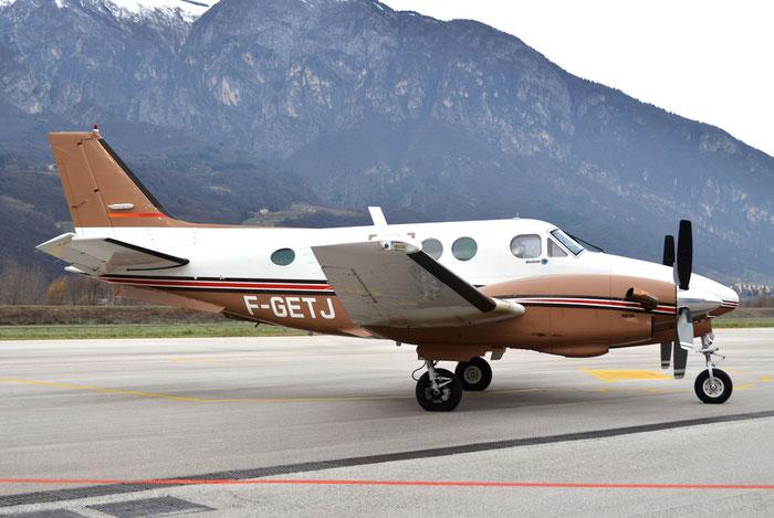 F-GETJ - Beechcraft 90 King Air - Private @ Aeroporto di Trento © Piti Spotter Club Verona