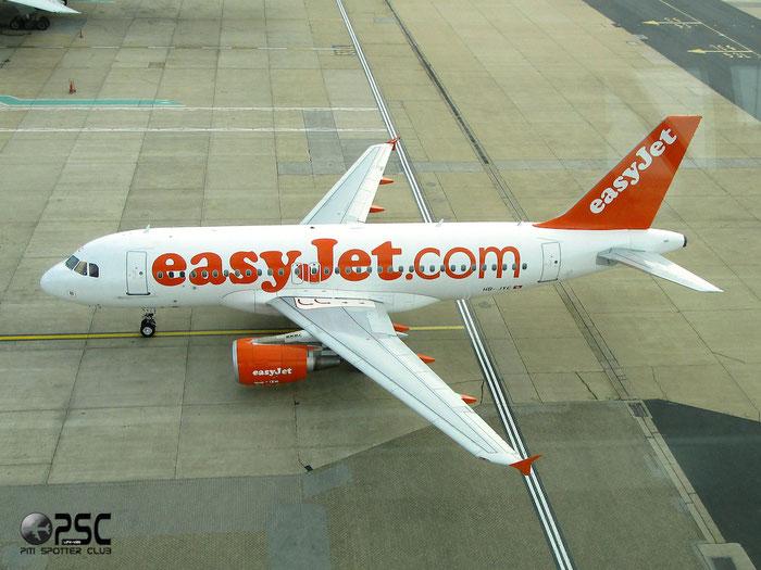 HB-JYC A319-111 4785 EasyJet Switzerland @ London Gatwick Airport 14.04.2014 © Piti Spotter Club Verona