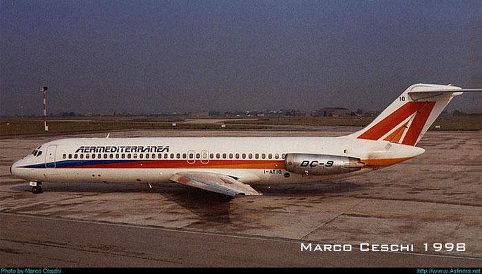 I-ATIQ DC-9-32 47591/706 Aermediterranea - Linee Aéree Mediterranee @ Aeroporto di Verona © Piti Spotter Club Verona
