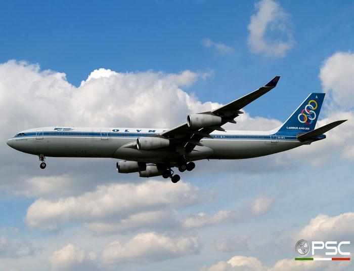 SX-DFA A340-313X 235 Olympic Airlines @ London Heathrow Airport 15.04.2008 © Piti Spotter Club Verona