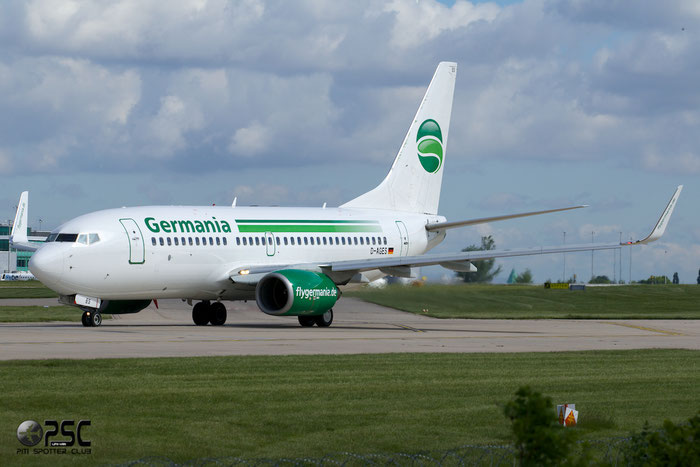 D-AGES B737-75B 28108/28 Germania @ Manchester Airport 13.05.2014 © Piti Spotter Club Verona