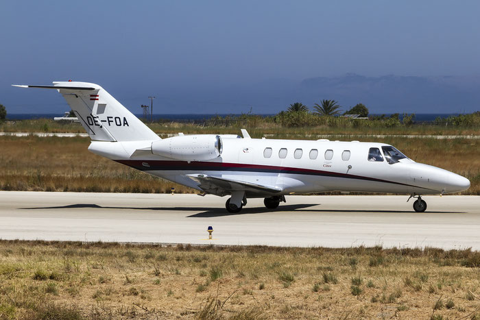 OE-FOA Ce525A (CJ2+) 525A-0354 Avcon Jet AG @ Rhodes Airport 07.2015 © Piti Spotter Club Verona