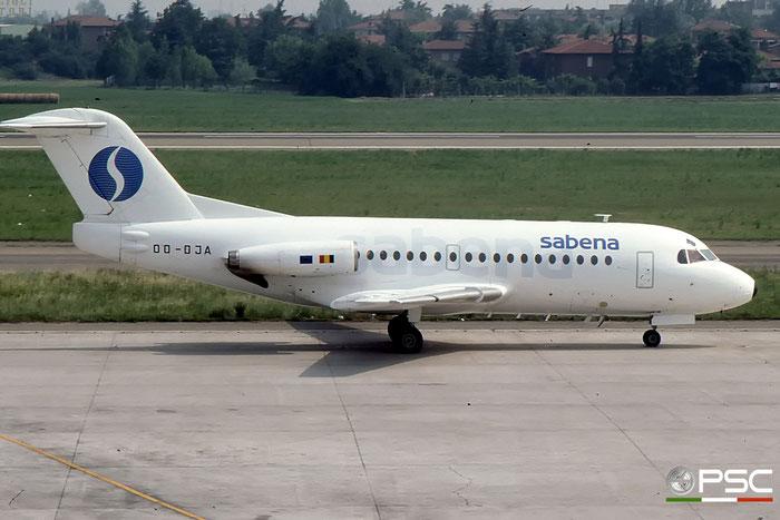 OO-DJA F28-3000 11163 SABENA Belgian World Airlines © 2017 courtesy of Marco Ceschi - Piti Spotter Club Verona