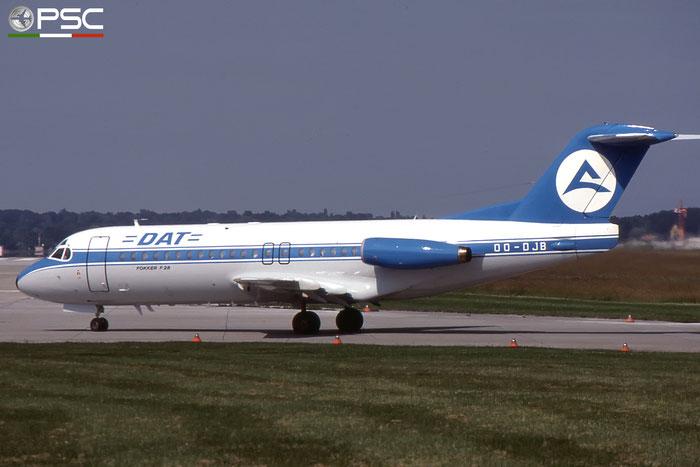 OO-DJB F28-4000 11184 DAT - Delta Air Transport © 2017 courtesy of Marco Ceschi - Piti Spotter Club Verona