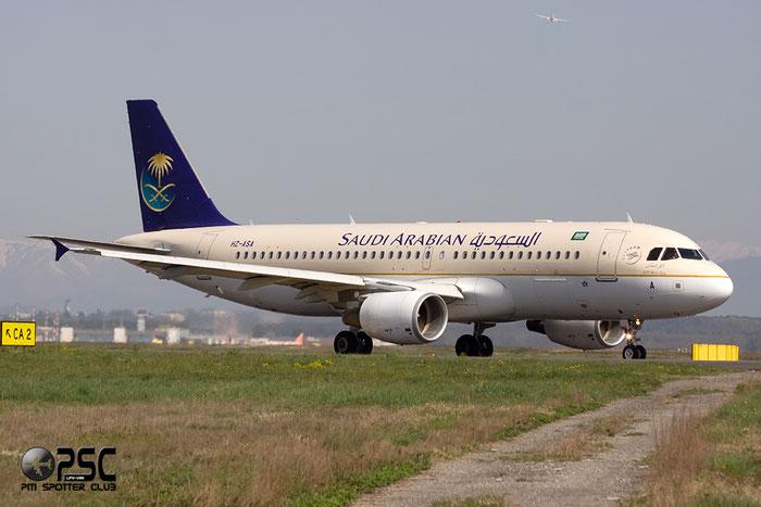 HZ-ASA A320-214 4081 Saudia - Saudi Arabian Airlines @ Milano Malpensa Airport 06.04.2014 © Piti Spotter Club Verona