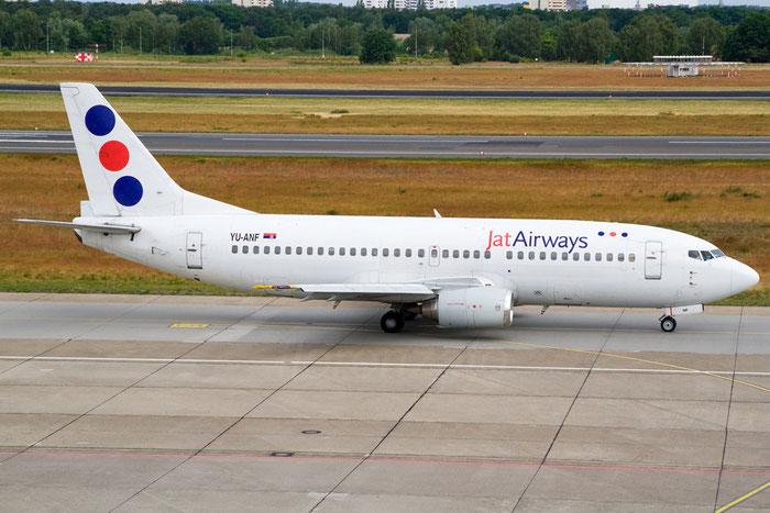 YU-ANF B737-3H9 23330/1136 Jat Airways @ Berlin Tegel Airport 06.2012 © Piti Spotter Club Verona
