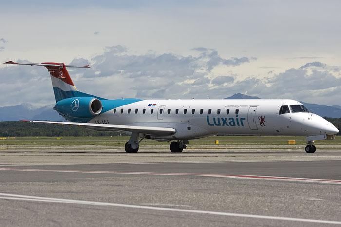 LX-LGJ ERJ145LU 145395 Luxair @ Milano Malpensa Airport 07.2009 © Piti Spotter Club Verona